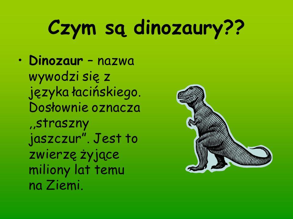 Czym są dinozaury