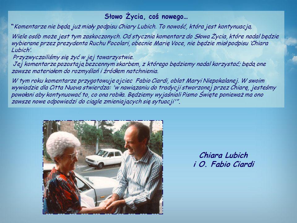 Słowo Życia, coś nowego… Chiara Lubich i O. Fabio Ciardi