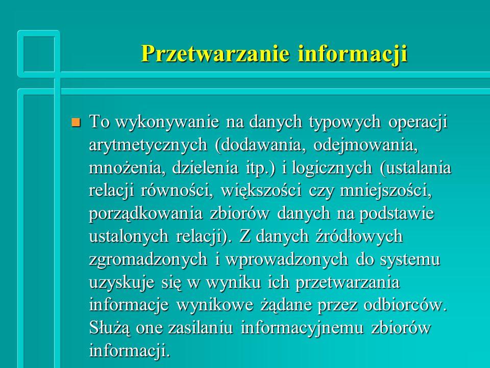 Przetwarzanie informacji