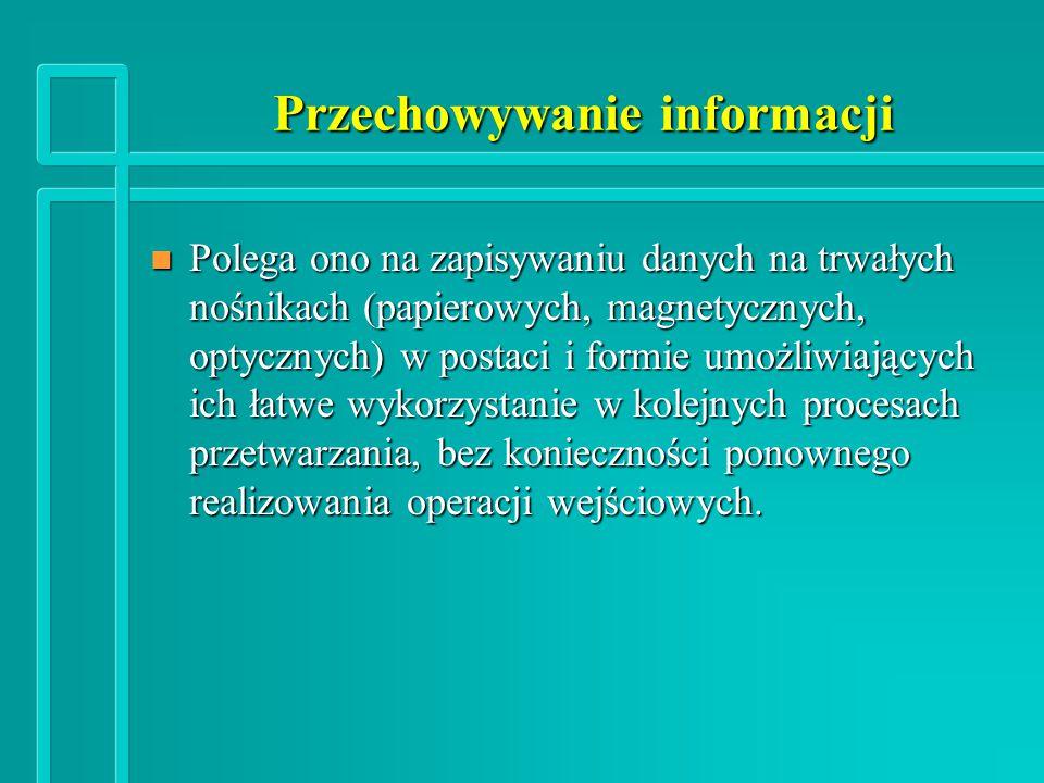 Przechowywanie informacji