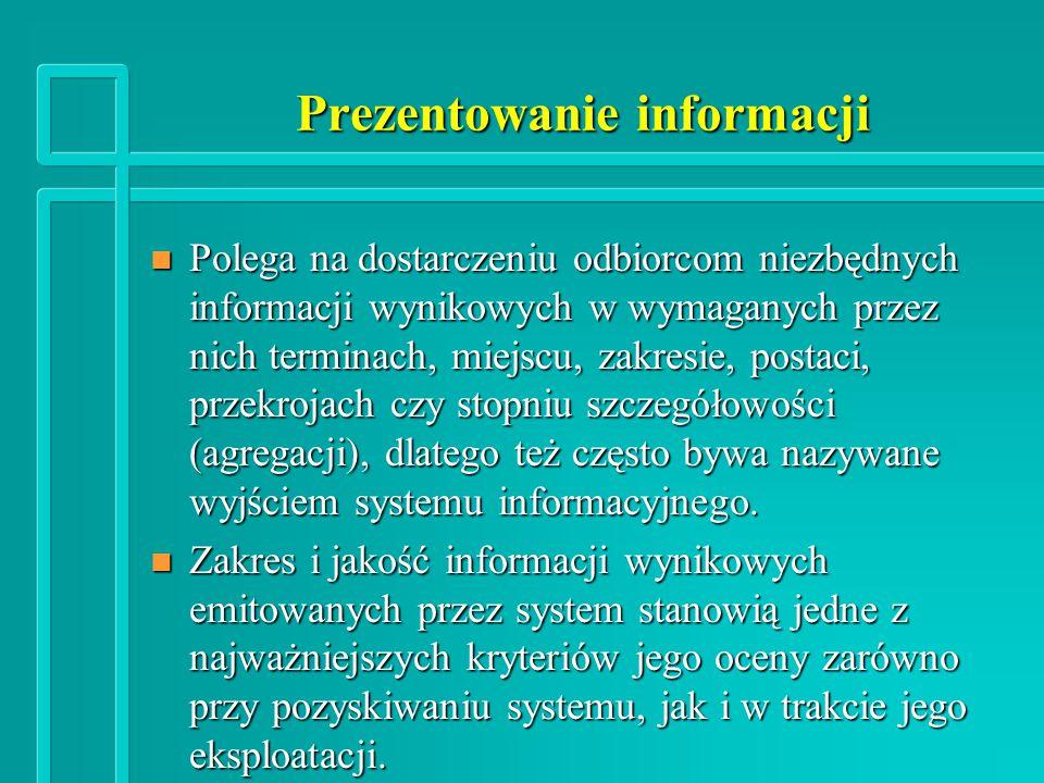 Prezentowanie informacji