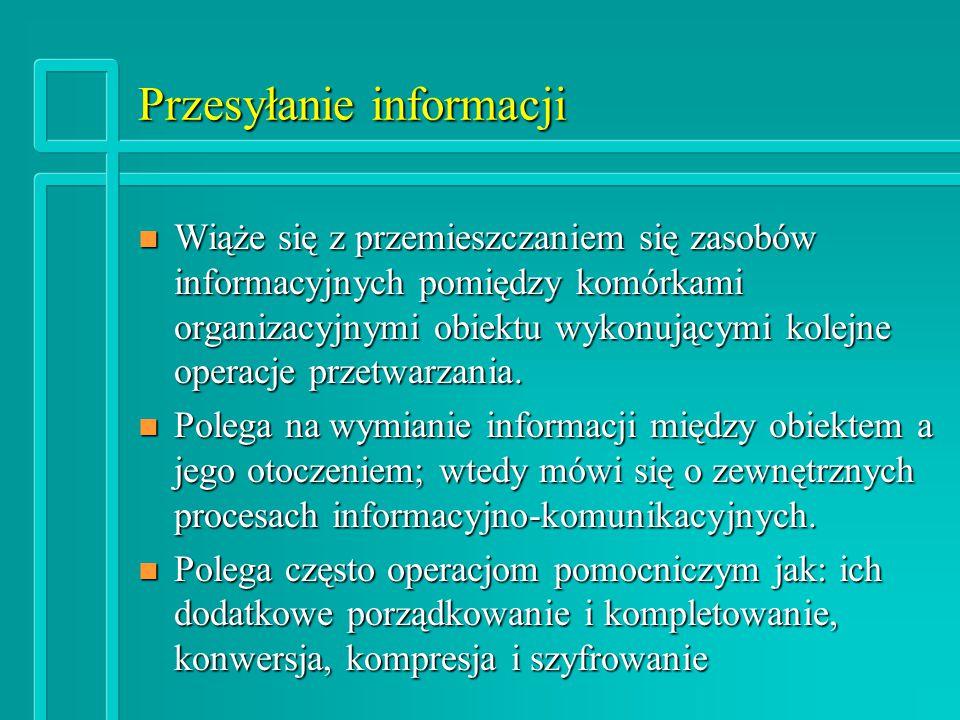 Przesyłanie informacji