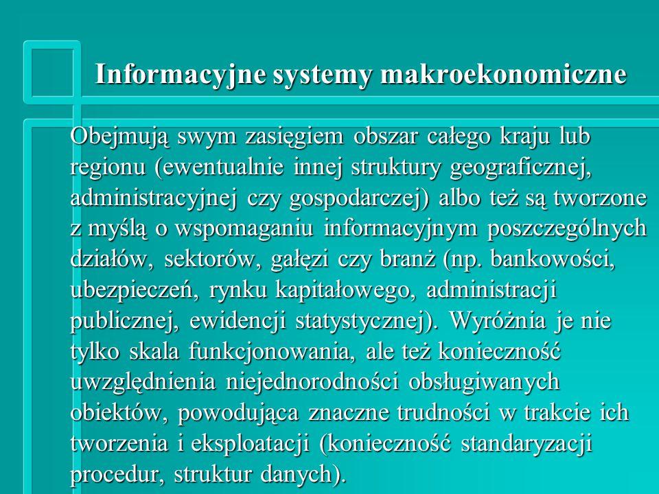 Informacyjne systemy makroekonomiczne