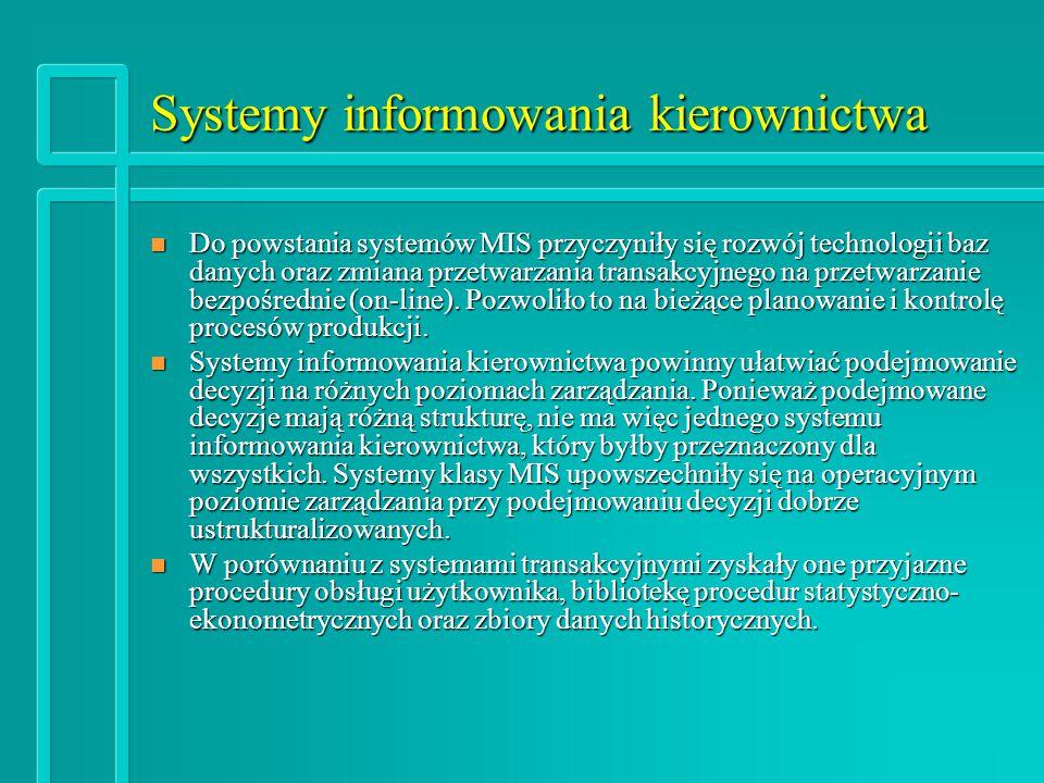 Systemy informowania kierownictwa