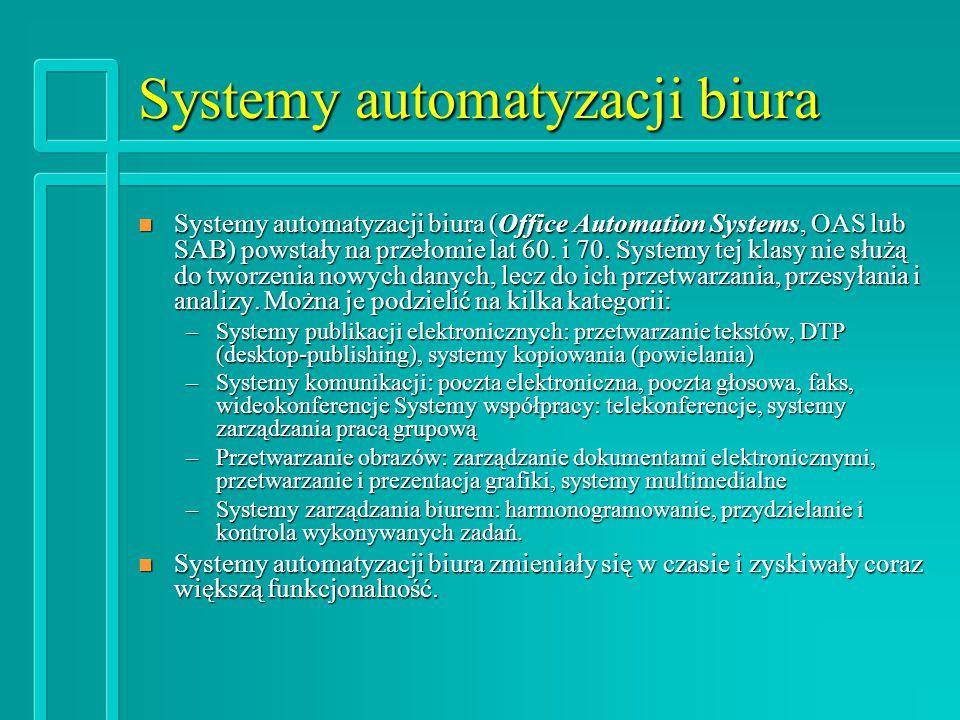 Systemy automatyzacji biura