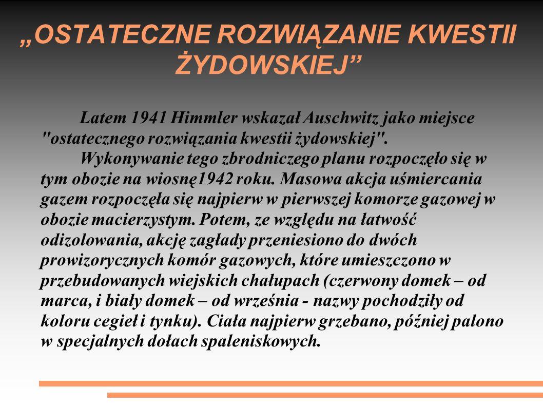 """""""OSTATECZNE ROZWIĄZANIE KWESTII ŻYDOWSKIEJ"""