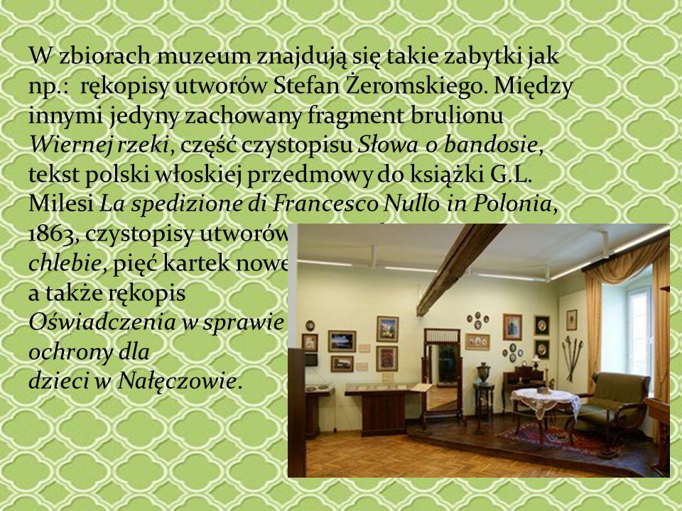 W zbiorach muzeum znajdują się takie zabytki jak np