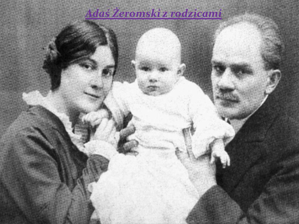 Adaś Żeromski z rodzicami