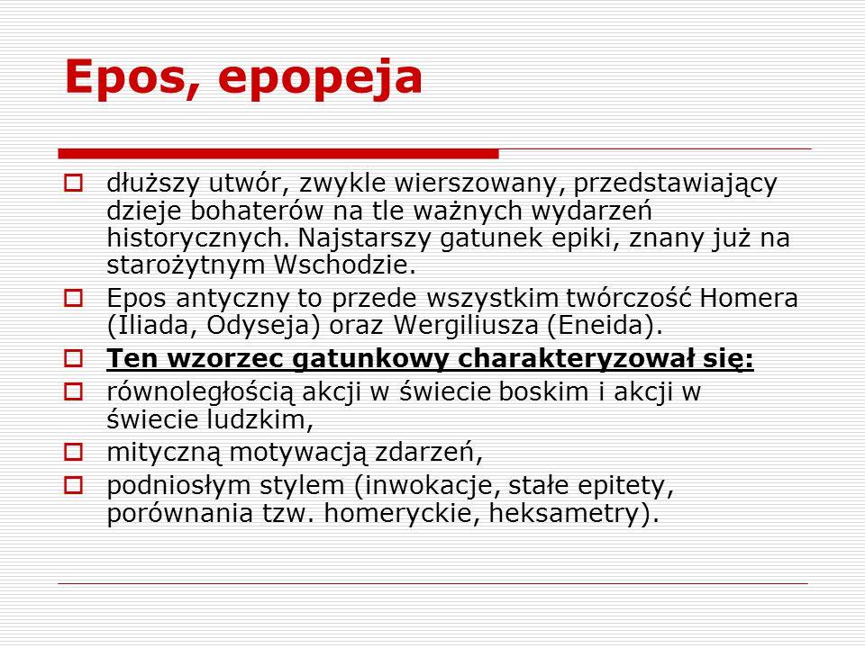 Epos, epopeja