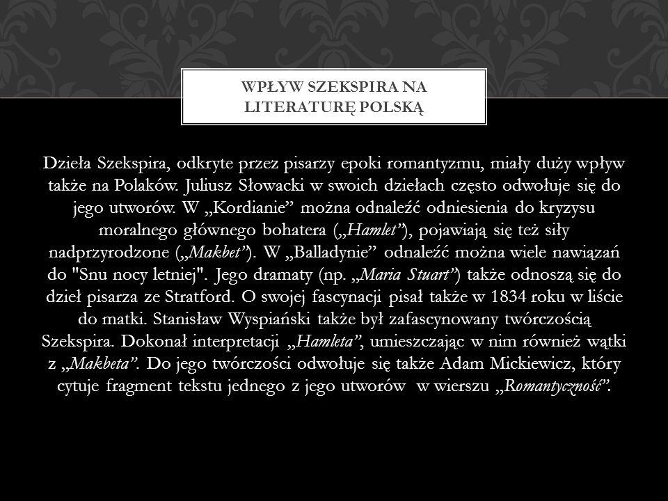 Wpływ Szekspira na literaturę polską
