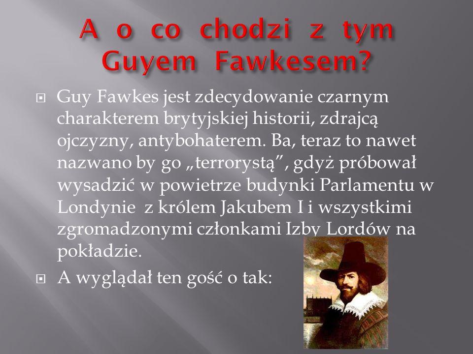 A o co chodzi z tym Guyem Fawkesem