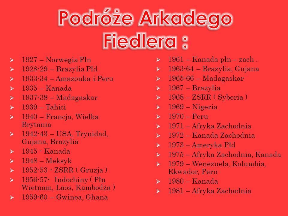 Podróże Arkadego Fiedlera :