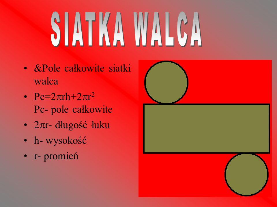 SIATKA WALCA &Pole całkowite siatki walca