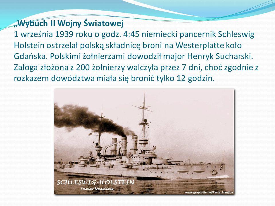 """""""Wybuch II Wojny Światowej 1 września 1939 roku o godz"""