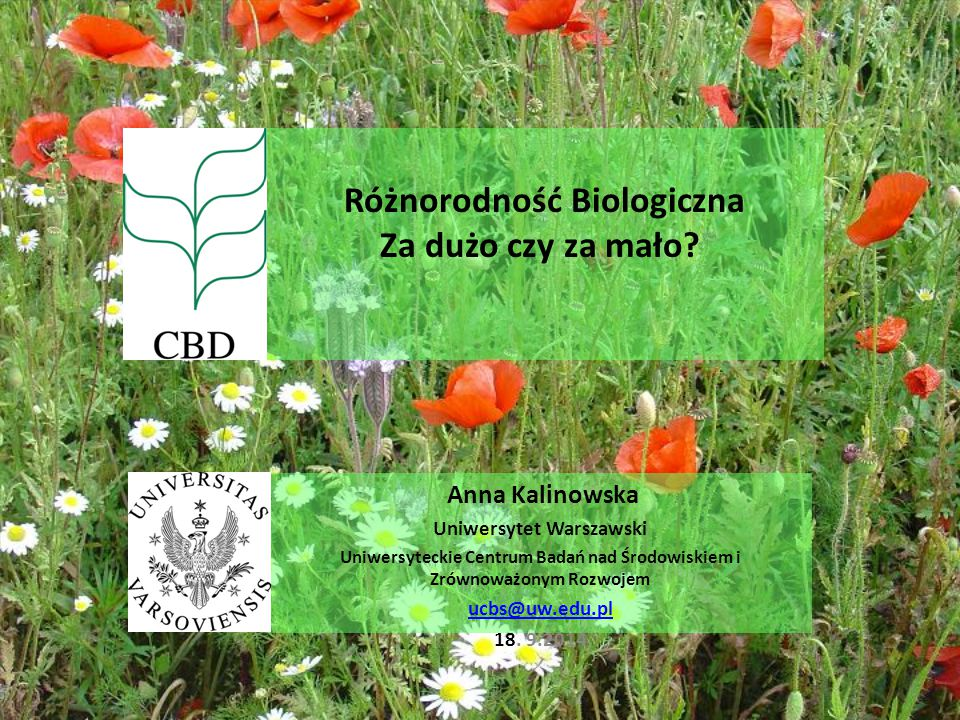 Różnorodność Biologiczna Za dużo czy za mało