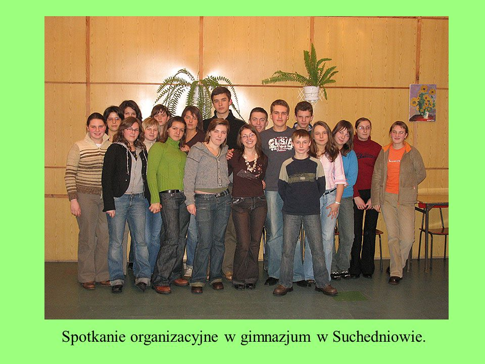 Spotkanie organizacyjne w gimnazjum w Suchedniowie.