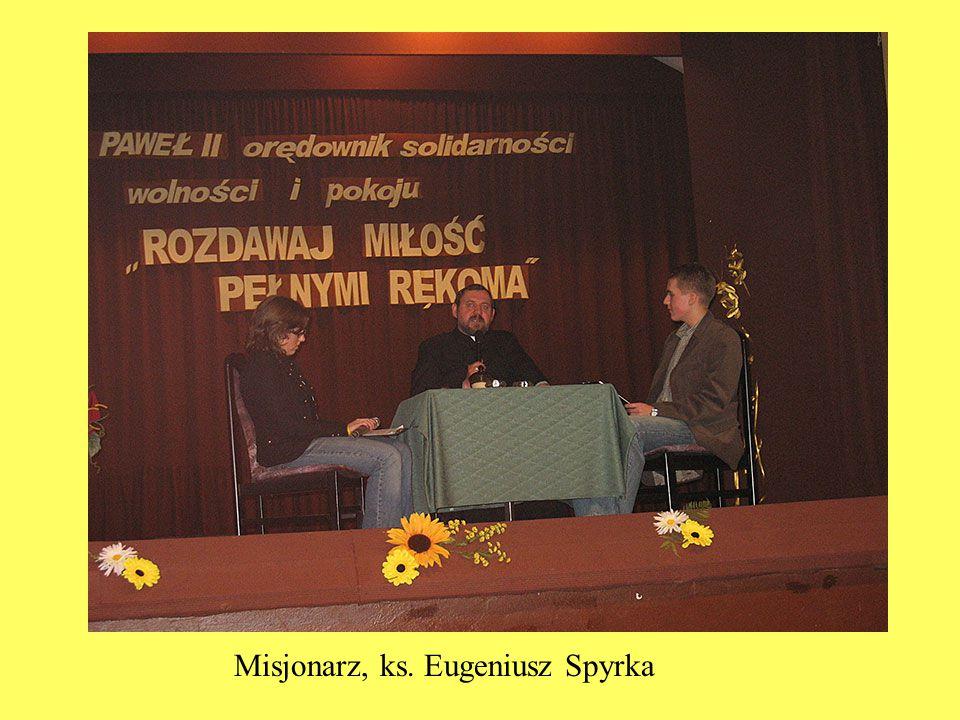 Misjonarz, ks. Eugeniusz Spyrka