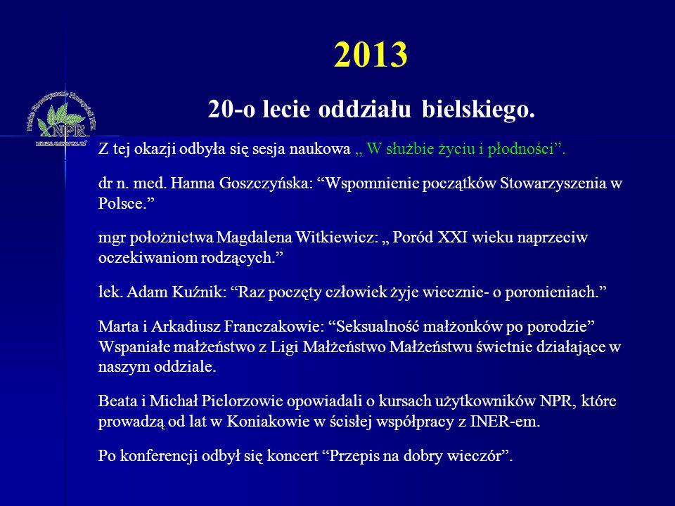 20-o lecie oddziału bielskiego.
