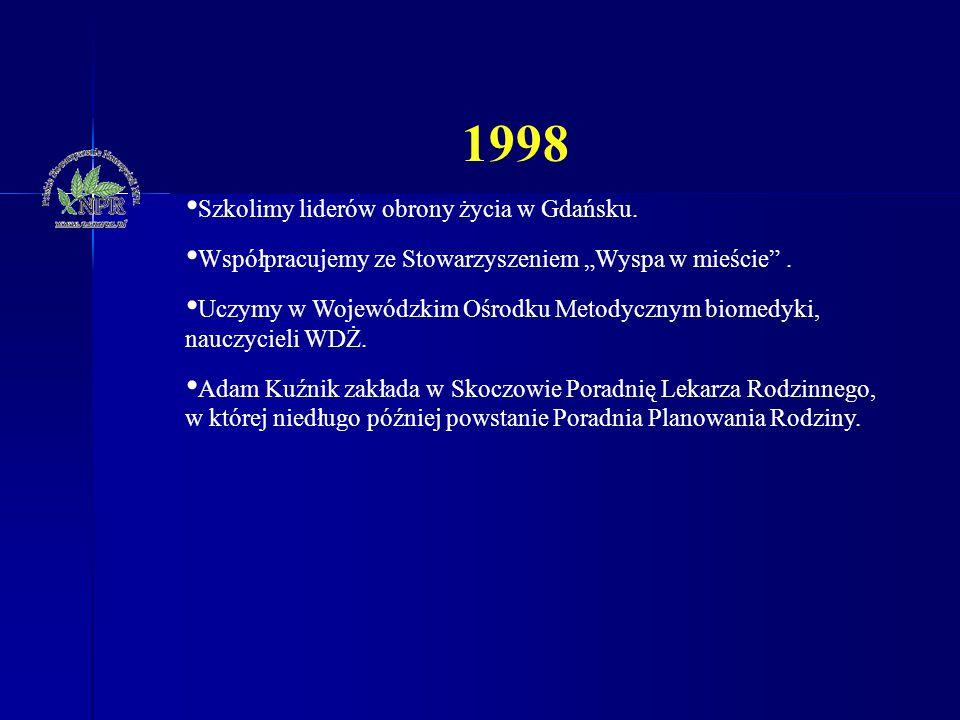 1998 Szkolimy liderów obrony życia w Gdańsku.