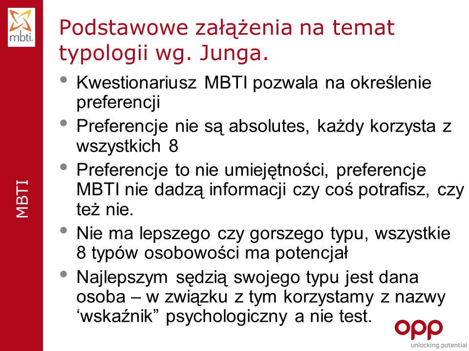 Podstawowe załążenia na temat typologii wg. Junga.
