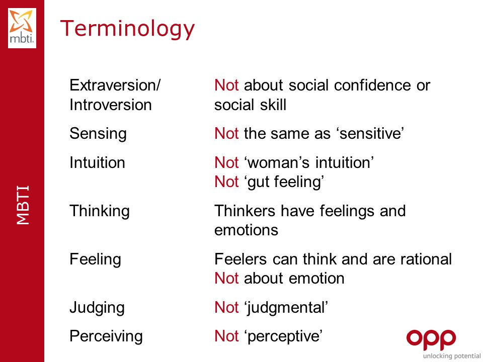 Terminology Extraversion/ Not about social confidence or