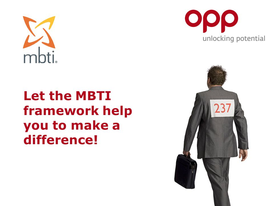 Let the MBTI framework help you to make a difference!