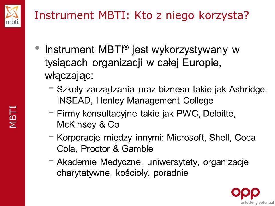 Instrument MBTI: Kto z niego korzysta