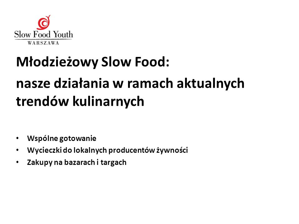 Młodzieżowy Slow Food: