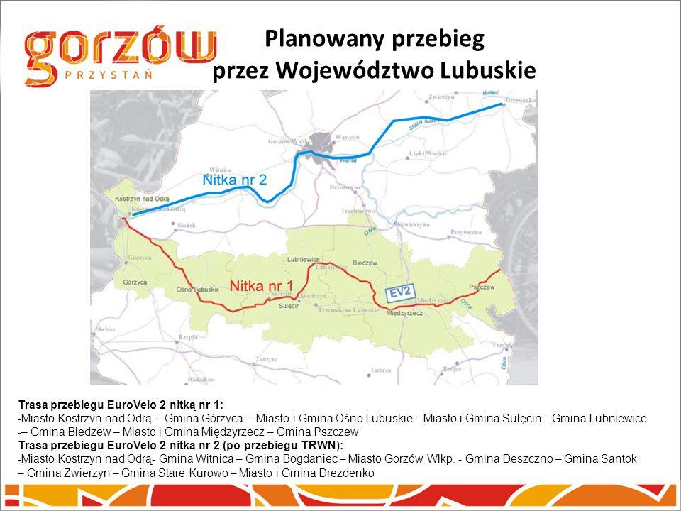 Planowany przebieg przez Województwo Lubuskie