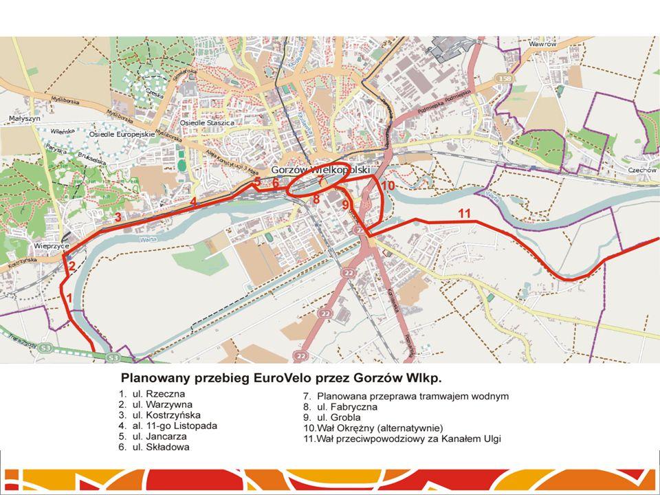 Planowany przebieg EuroVelo przez Gorzów Wlkp.