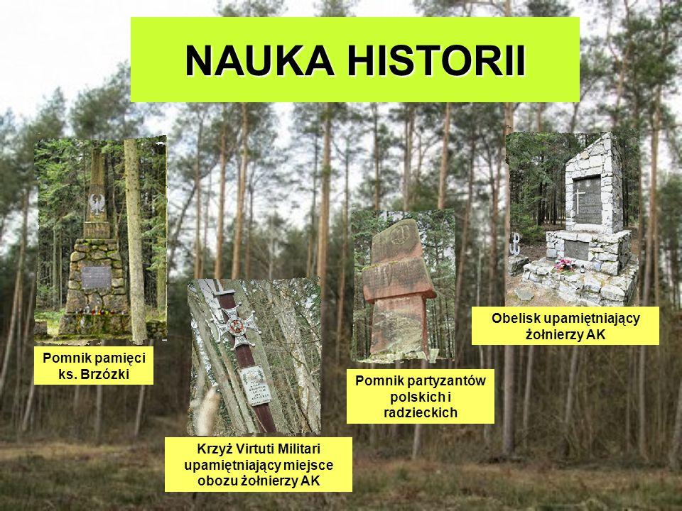 NAUKA HISTORII Obelisk upamiętniający żołnierzy AK