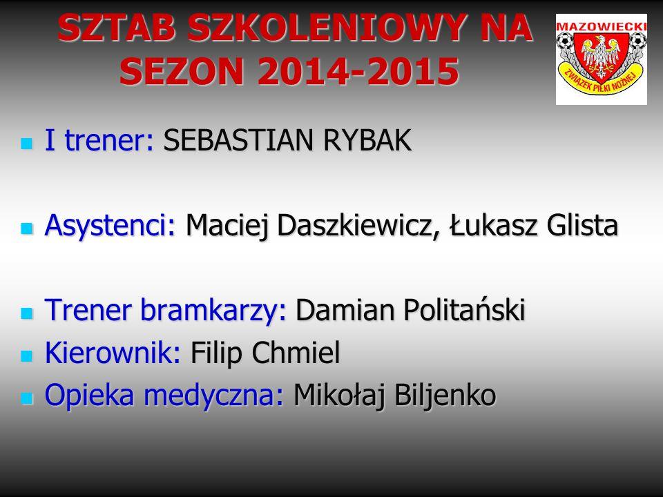 SZTAB SZKOLENIOWY NA SEZON 2014-2015