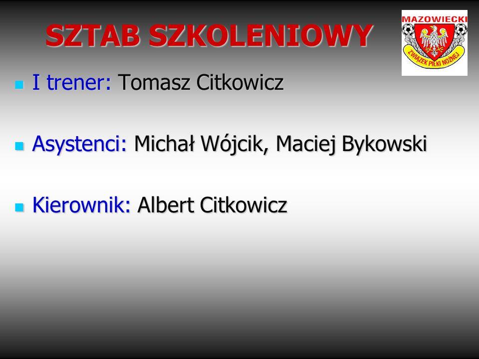 SZTAB SZKOLENIOWY I trener: Tomasz Citkowicz