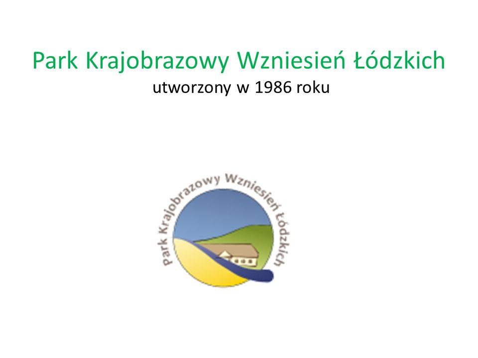 Park Krajobrazowy Wzniesień Łódzkich utworzony w 1986 roku