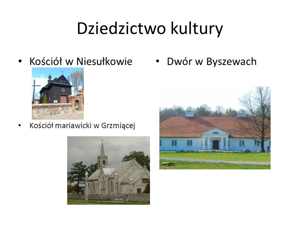 Dziedzictwo kultury Kościół w Niesułkowie Dwór w Byszewach