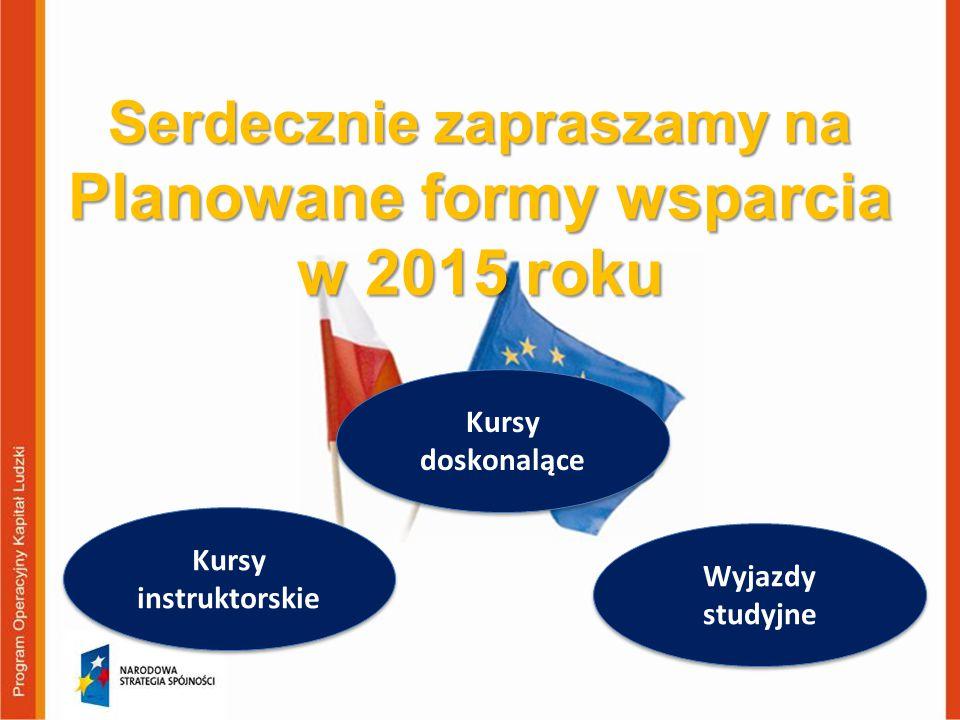 Serdecznie zapraszamy na Planowane formy wsparcia w 2015 roku