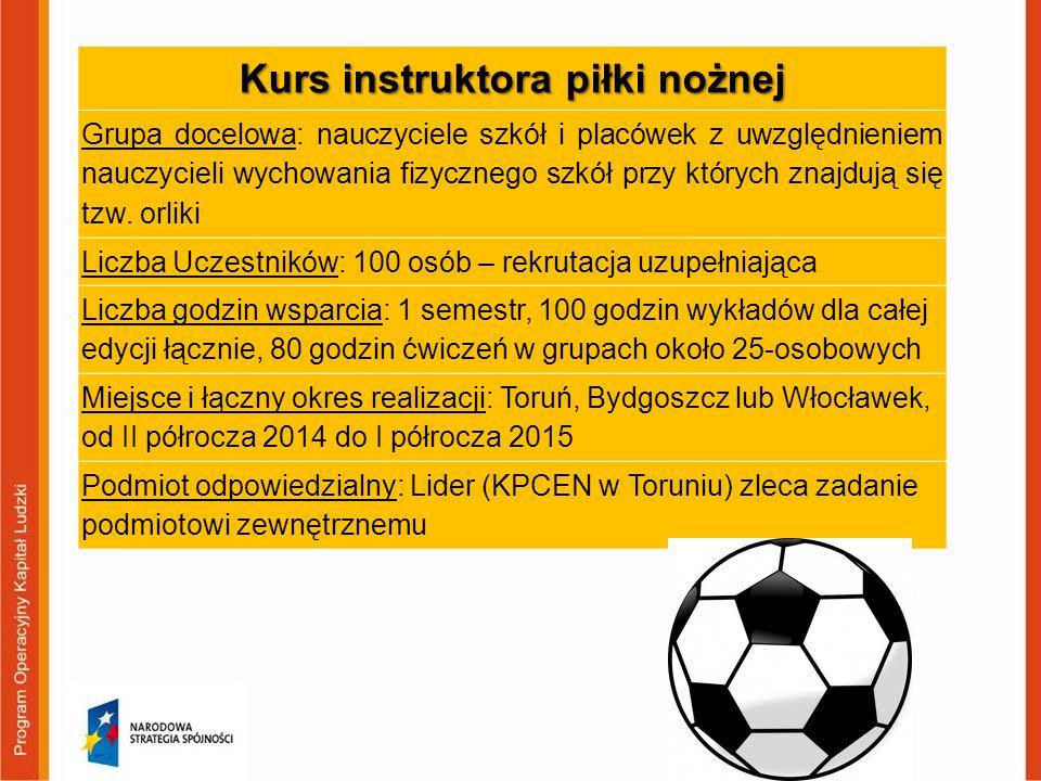 Kurs instruktora piłki nożnej