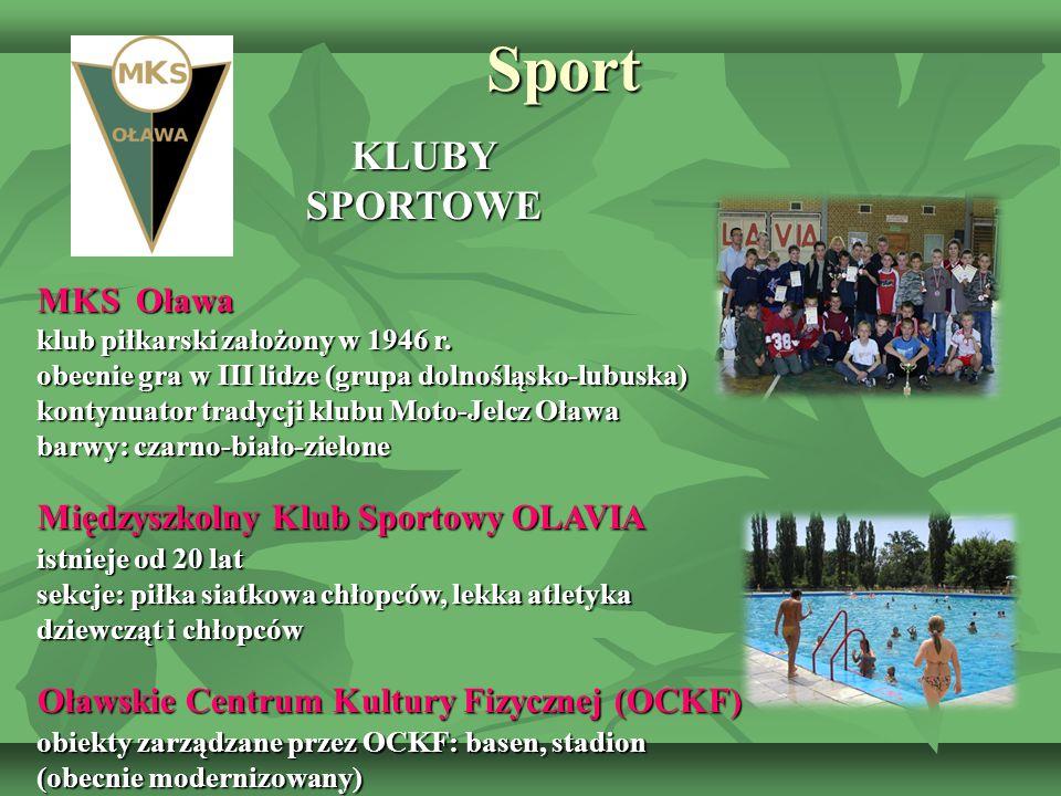 Sport KLUBY SPORTOWE MKS Oława Międzyszkolny Klub Sportowy OLAVIA