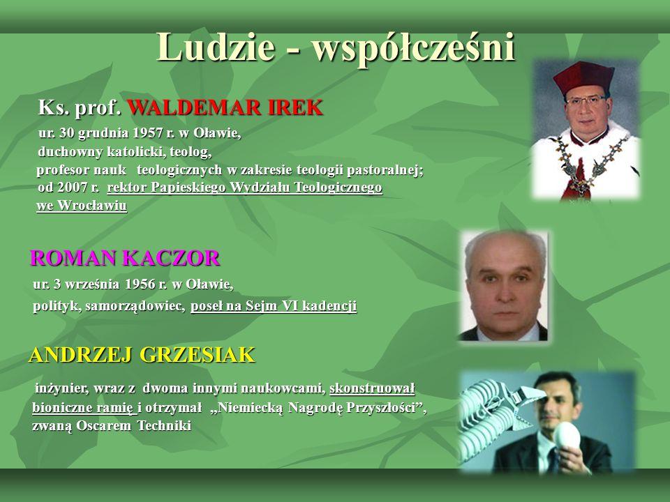 Ludzie - współcześni Ks. prof. WALDEMAR IREK ROMAN KACZOR