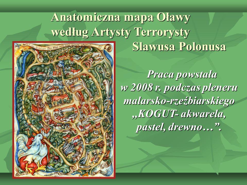 Anatomiczna mapa Oławy według Artysty Terrorysty Slawusa Polonusa
