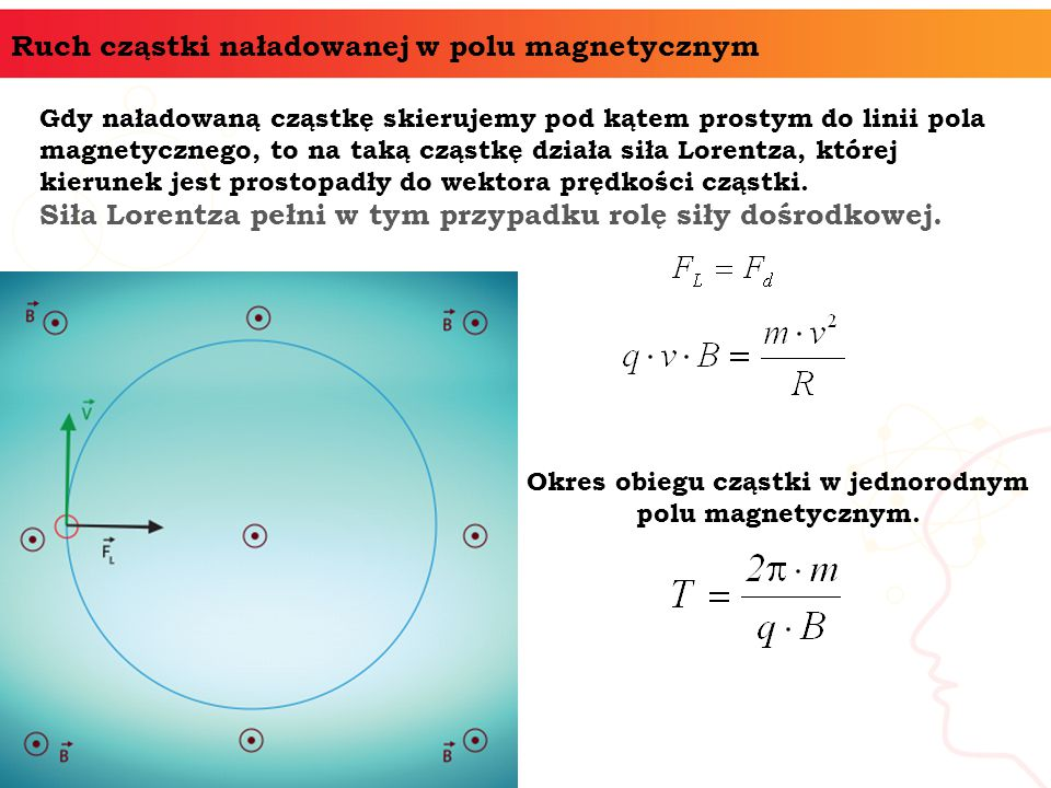 Okres obiegu cząstki w jednorodnym polu magnetycznym.