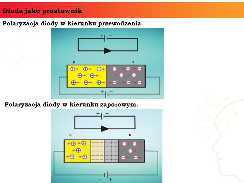Dioda jako prostownik Polaryzacja diody w kierunku przewodzenia.
