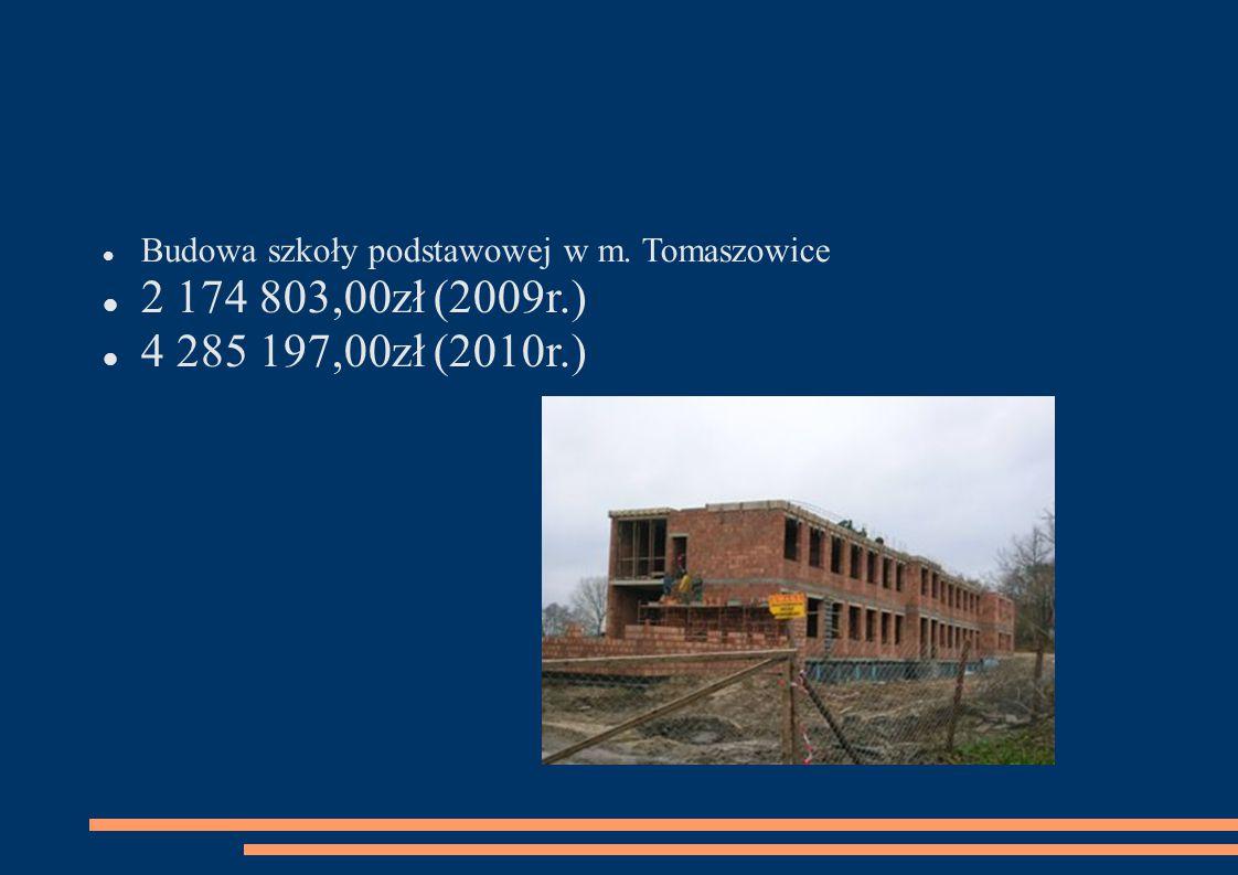 Budowa szkoły podstawowej w m. Tomaszowice