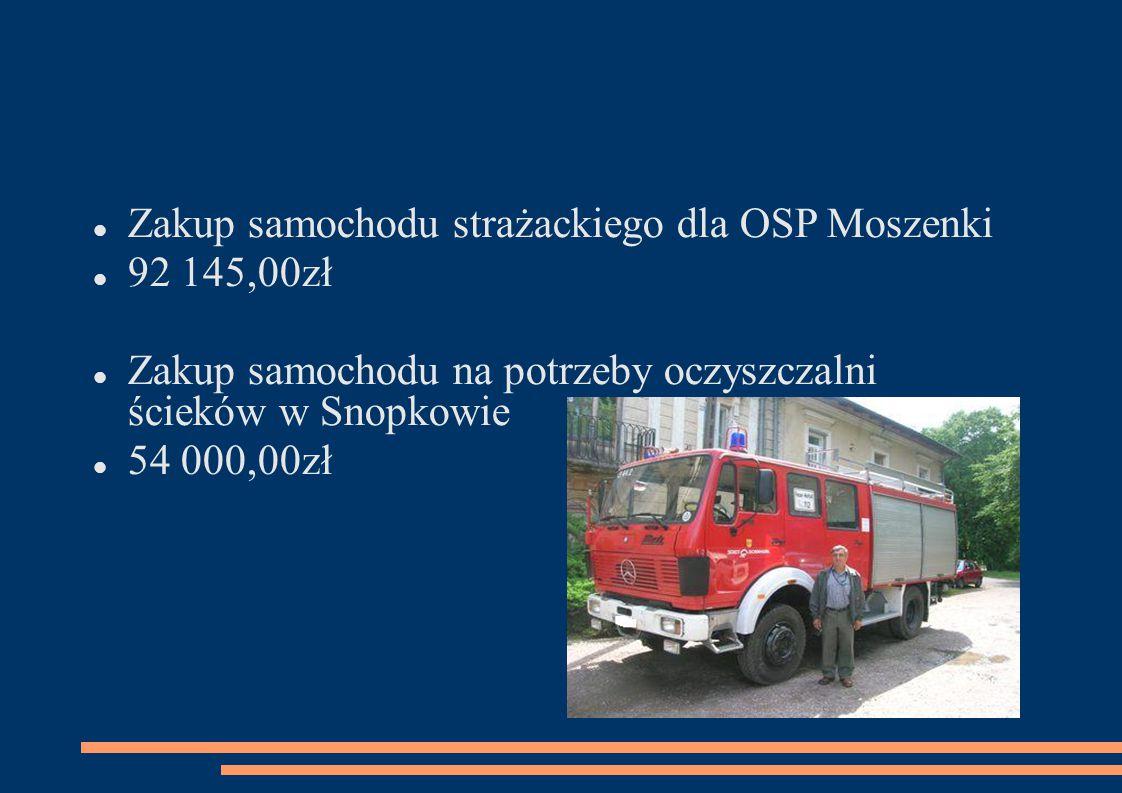 Zakup samochodu strażackiego dla OSP Moszenki