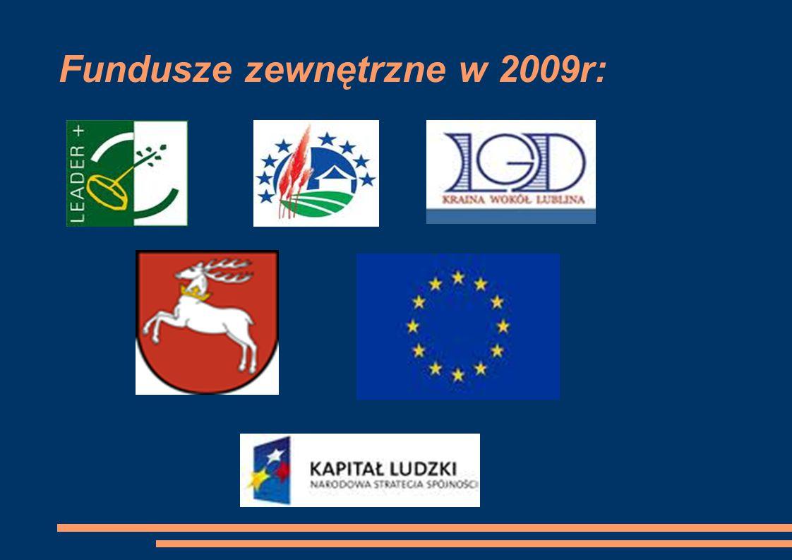 Fundusze zewnętrzne w 2009r: