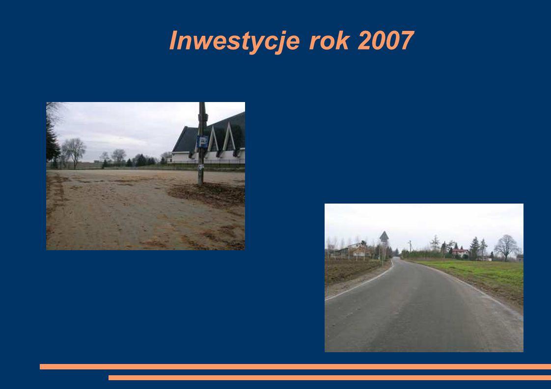 Inwestycje rok 2007
