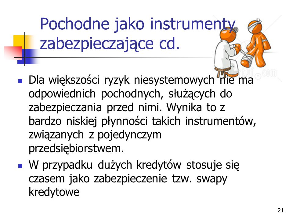 Pochodne jako instrumenty zabezpieczające cd.