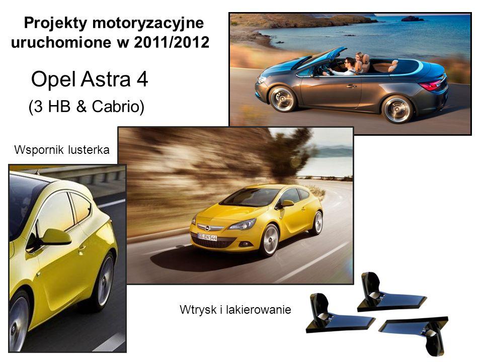 Projekty motoryzacyjne uruchomione w 2011/2012 Opel Astra 4 (3 HB & Cabrio)
