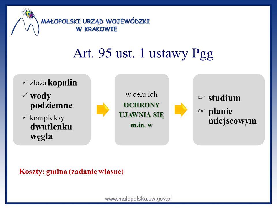 Art. 95 ust. 1 ustawy Pgg  studium  planie miejscowym