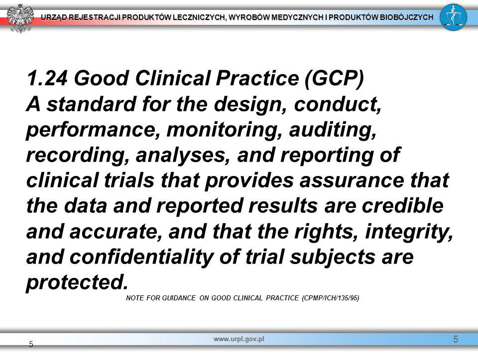 NOTE FOR GUIDANCE ON GOOD CLINICAL PRACTICE (CPMP/ICH/135/95)
